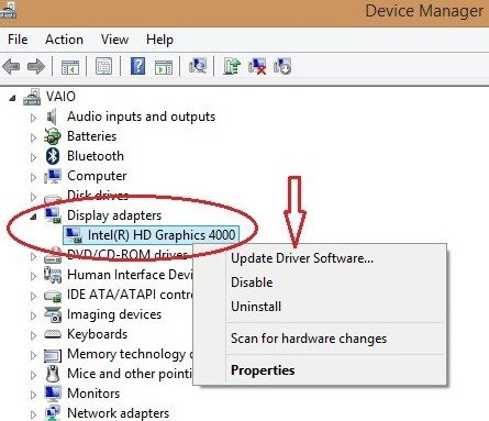 Update graphics card driver