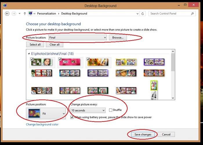 Windows 8 Desktop Background Slideshow Easy To Set