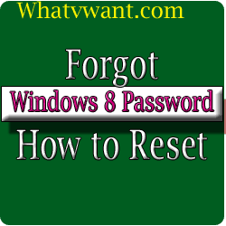 Forgot Windows 8 password