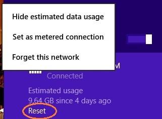 Network usage monitor