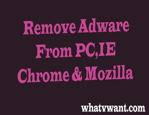 Remove adware
