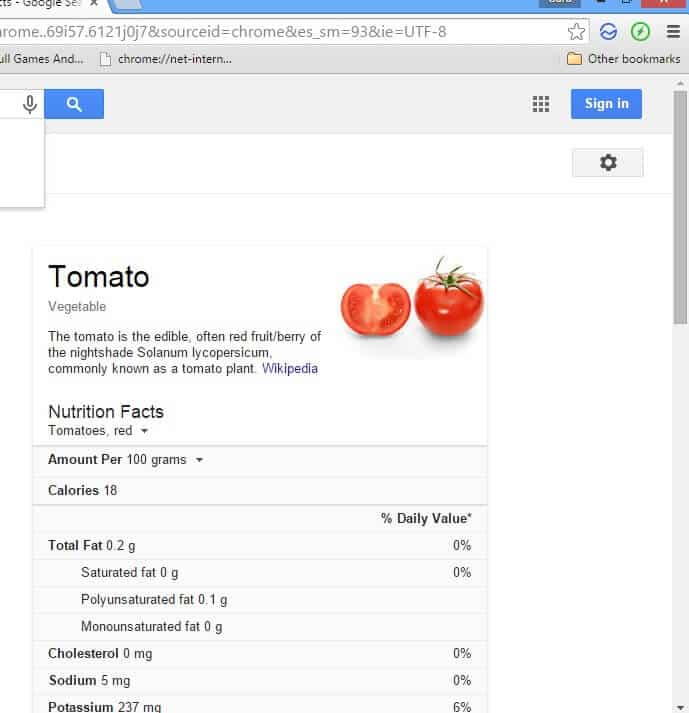 tomato facts google tips and tricks