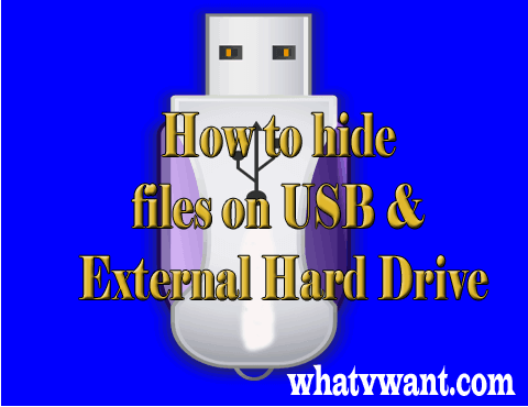 Hide files on USB
