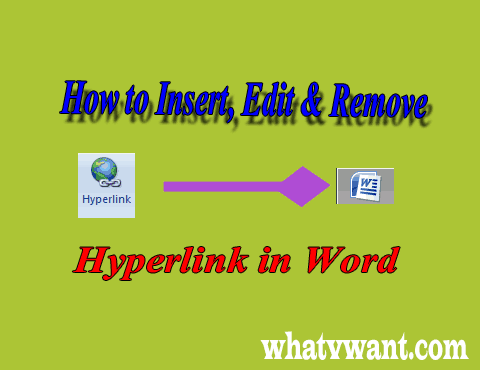 Hyperlink in word