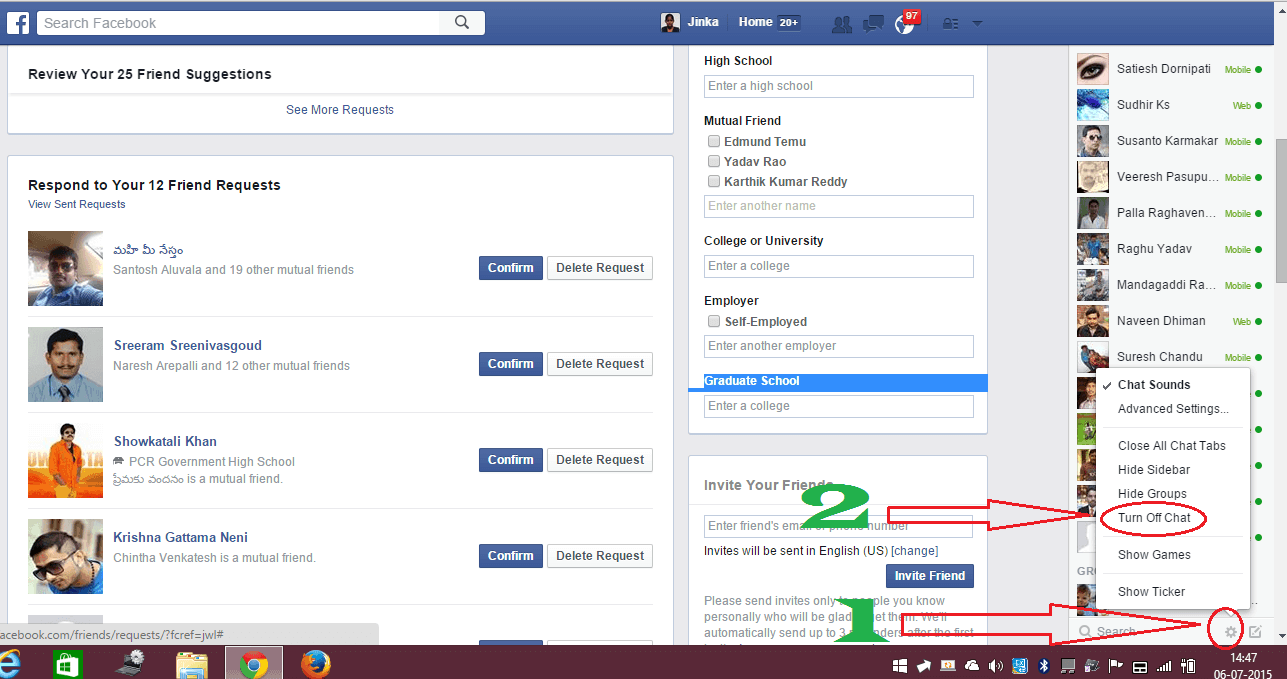 turn off chat facebook