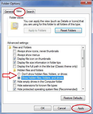 how to get around a password protected folder