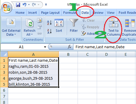 excel split cell into columns