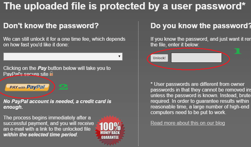 open password protected pdf