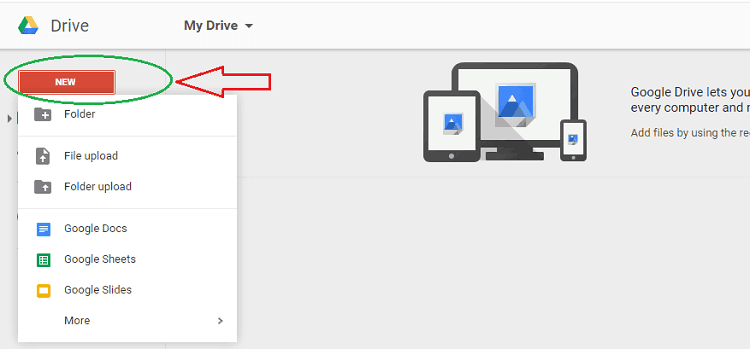sharing files on google drive