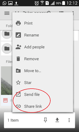 sharing files with google drive