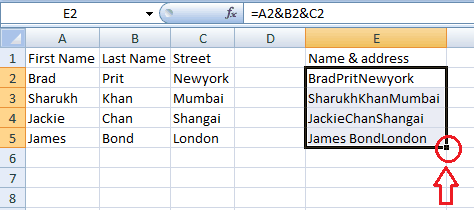 2 Ways To Combine Columns In Excel By Merging Cells