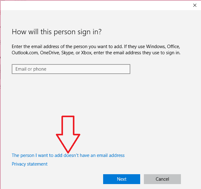 windows 10 local account