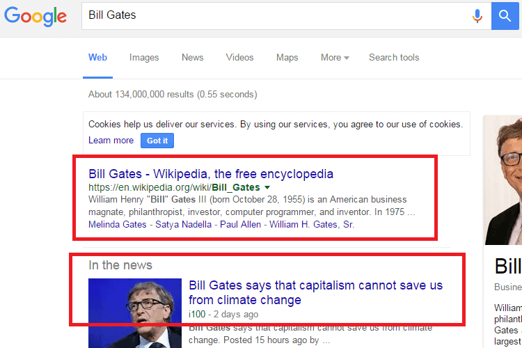 best search engine Google billgates
