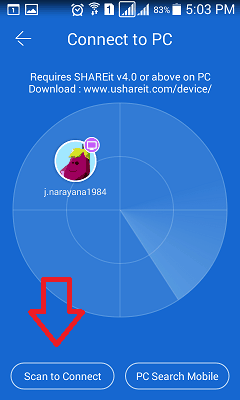 How To Use Shareit On PC To Transfer Files To / From Mobile