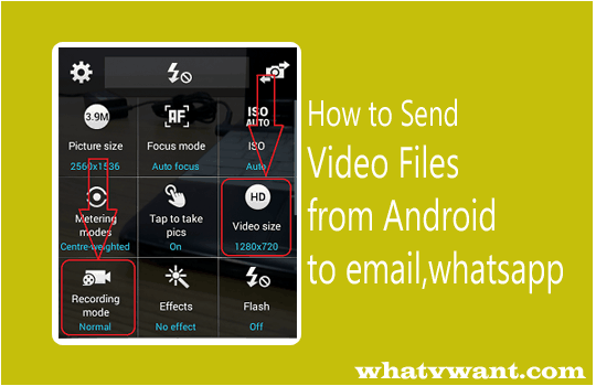 how to send video from android