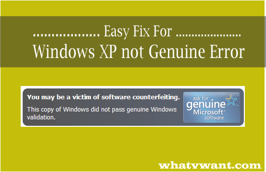 windows genuine fix