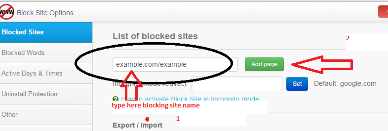 How to Block web sites in Google chrome
