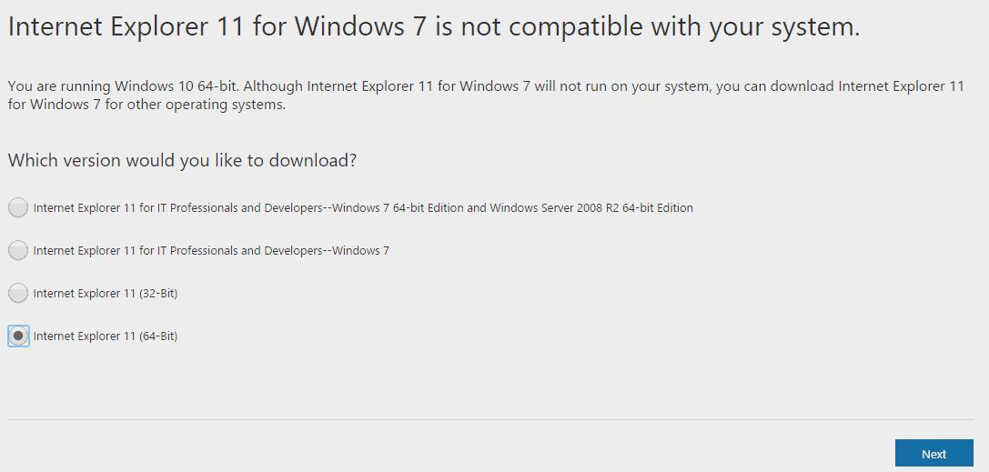 Upgrade To Internet Explorer 64 Bit Version From 32 Bit