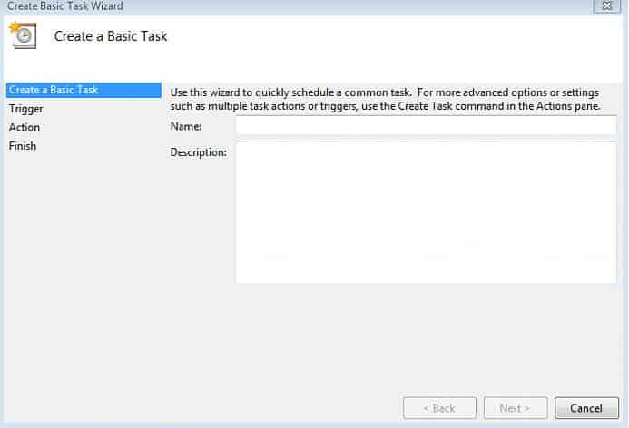 Task Scheduler for windows