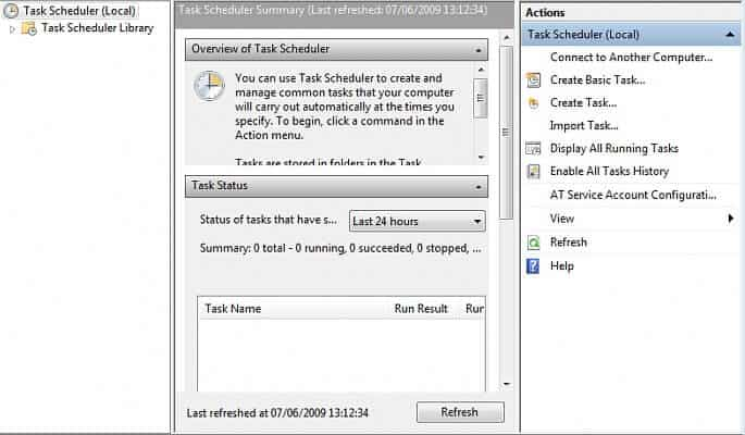 Schedule a task in Windows