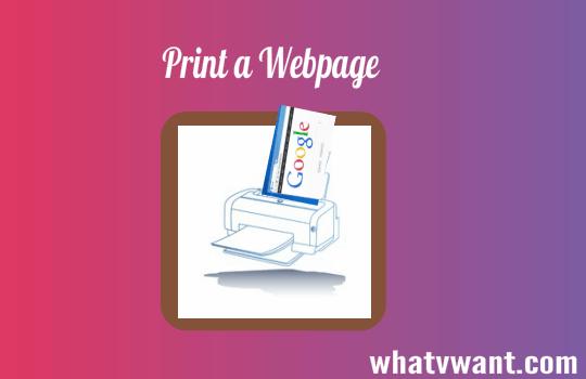 Print a web page
