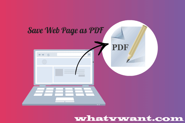 save web page as a pdf