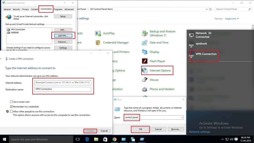 How to setup VPN in Windows