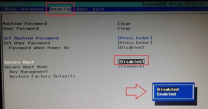 How To Enable / Disable Secure Boot In Windows 8,8 1&10