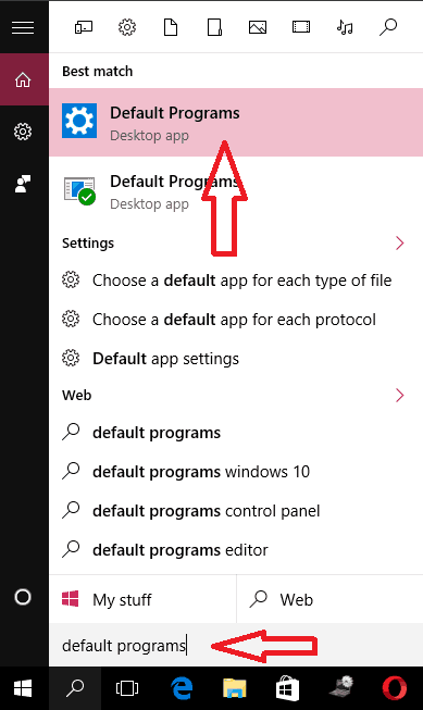 Google chrome default in windows10