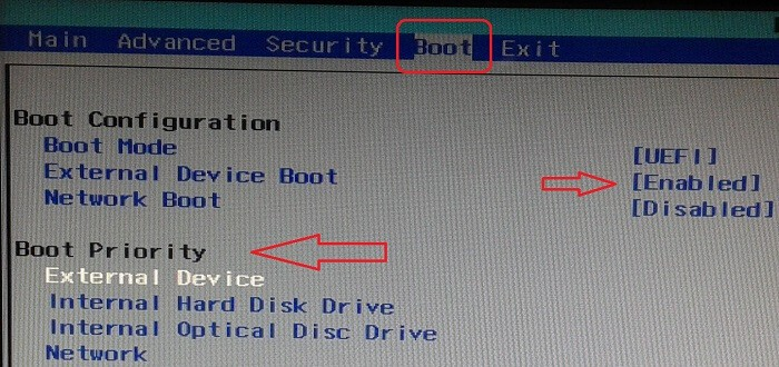 how to change uefi boot order