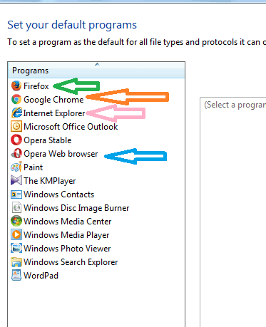 Change default web browser