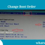 How to Change boot order to boot PC from USB/CD/DVD