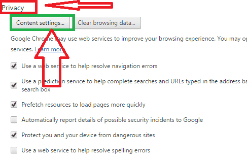 google chrome home page