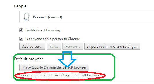make google chrome my default browser