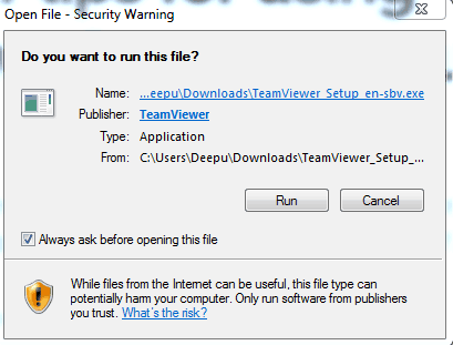 run team viewer