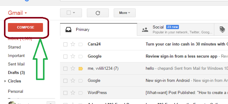 How to send images through gmail