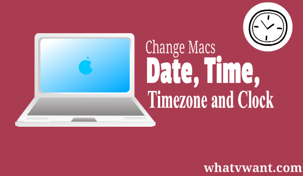 change mac date and time