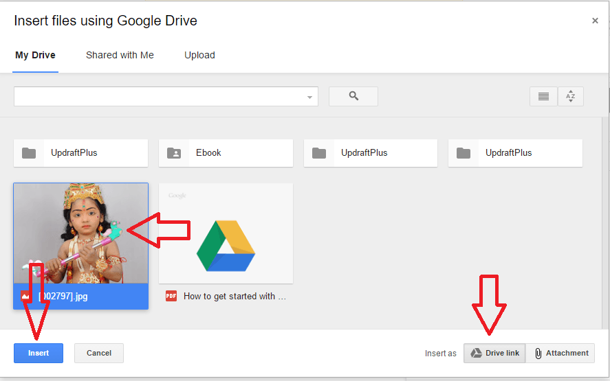 google drive in gmail