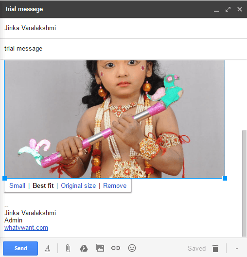 send image in gmail