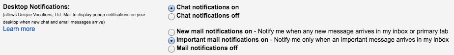 Get Gmail notification on desktop