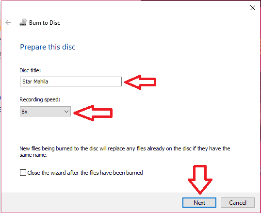 burn dvd in windows 10