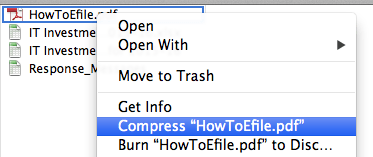 create zip file on mac