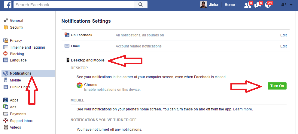 How To Get Facebook Notifications On Desktop Using Chrome - Whatvwant