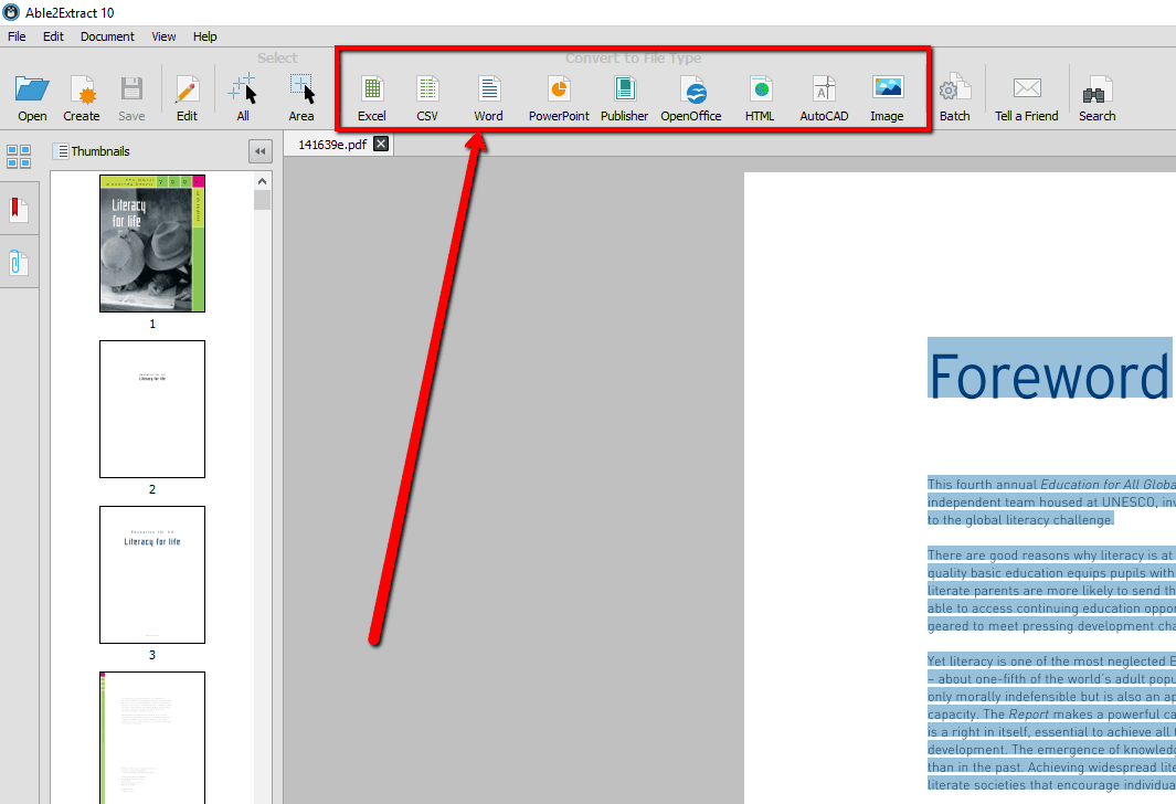 able2extract 10 pdf conversion