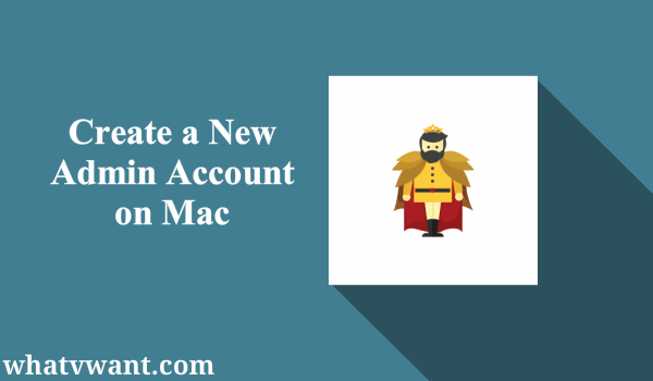 create a new admin account on mac