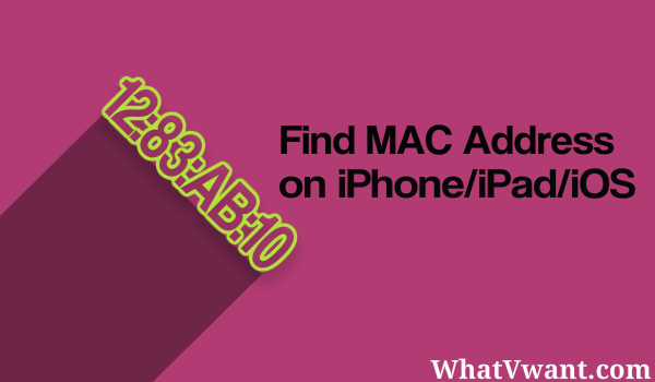 MAC address on iPhone