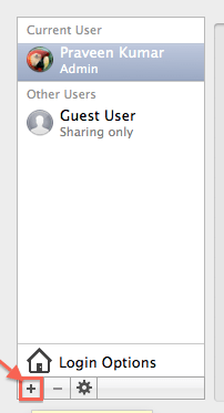 create a new user account on mac