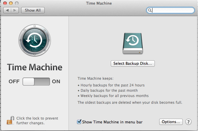 Backup Mac to external hard drive