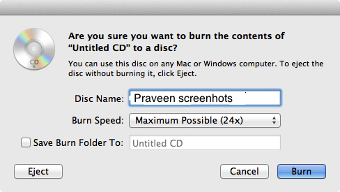 How to burn a DVD on a Mac