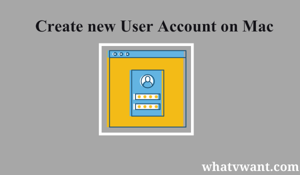 how to create new user account on mac